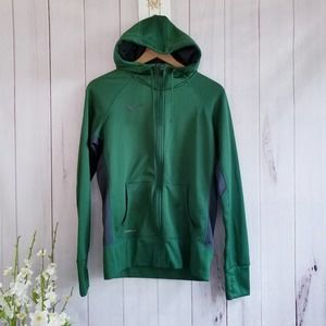 Nike Therma-Fit Zip Up Hooded Green Jacket M